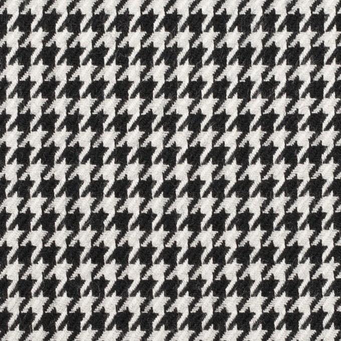 ウール&レーヨン×チェック(オフホワイト&ブラック)×千鳥格子 イメージ1