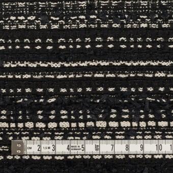 ポリエステル&コットン混×ボーダー(ブラック&エクリュ)×ファンシーツイード サムネイル4