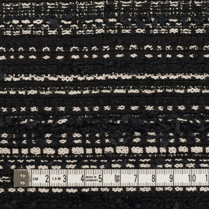 ポリエステル&コットン混×ボーダー(ブラック&エクリュ)×ファンシーツイード イメージ4