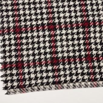 ウール×チェック(クリーム、レッド&ブラック)×ファンシーツイード サムネイル2