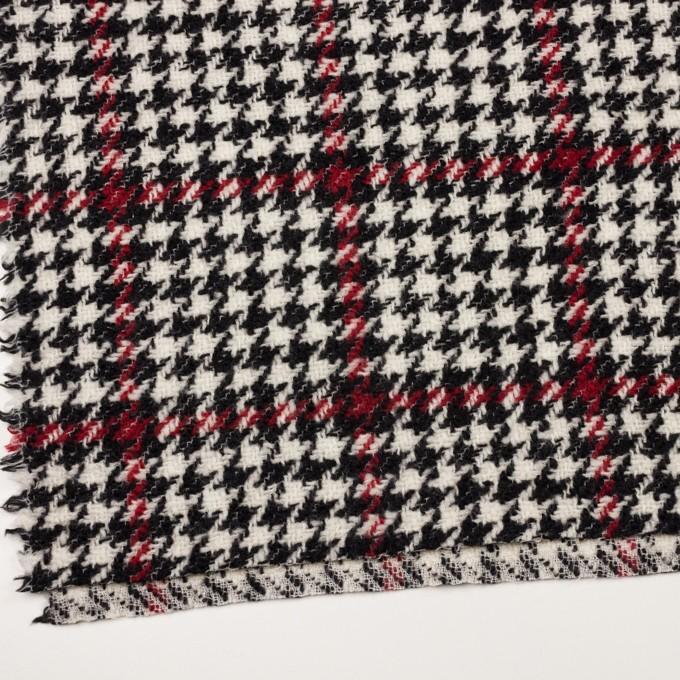 ウール×チェック(クリーム、レッド&ブラック)×ファンシーツイード イメージ2