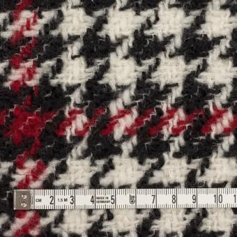 ウール×チェック(クリーム、レッド&ブラック)×ファンシーツイード サムネイル4