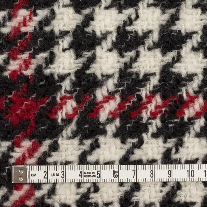 ウール×チェック(クリーム、レッド&ブラック)×ファンシーツイード イメージ4