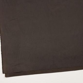 コットン&シルク×無地(ダークブラウン)×二重織ワッシャー サムネイル2