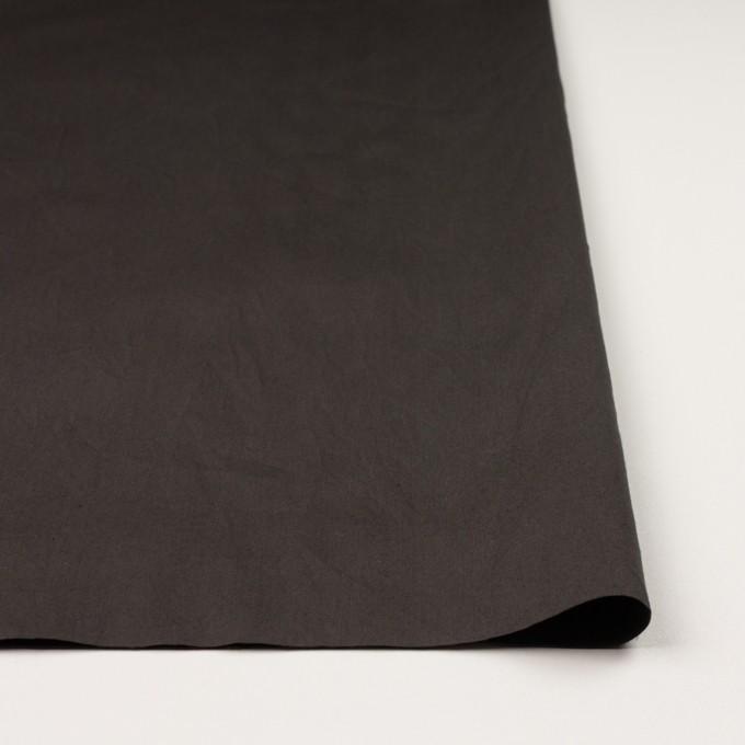 コットン&シルク×無地(ダークブラウン)×二重織ワッシャー イメージ3