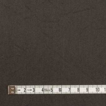 コットン&シルク×無地(ダークブラウン)×二重織ワッシャー サムネイル4