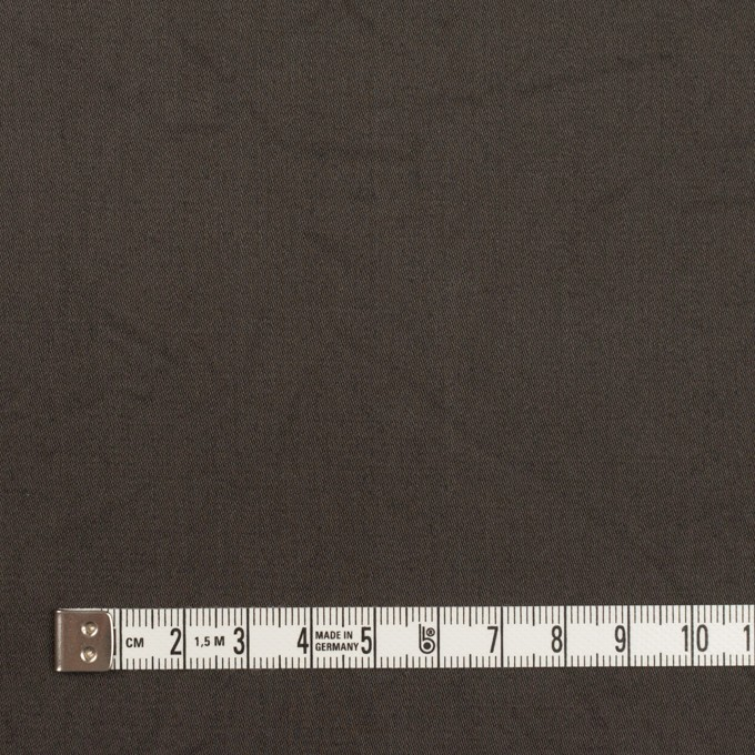 コットン&シルク×無地(ダークブラウン)×二重織ワッシャー イメージ4