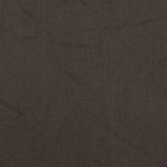 コットン&シルク×無地(ダークブラウン)×二重織ワッシャー