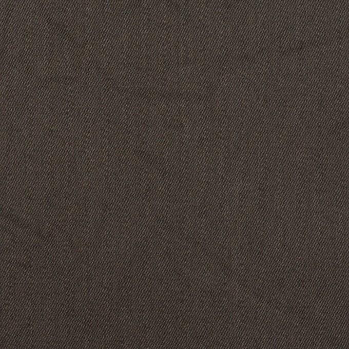 コットン&シルク×無地(ダークブラウン)×二重織ワッシャー イメージ1