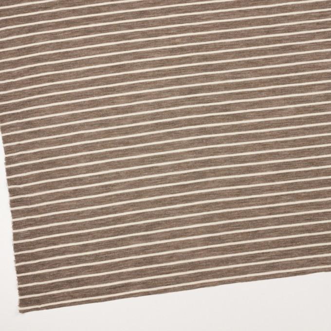 ウール×ボーダー(アッシュブラウン)×フライスニット_全2色 イメージ2