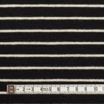 ウール×ボーダー(ブラック)×フライスニット サムネイル4