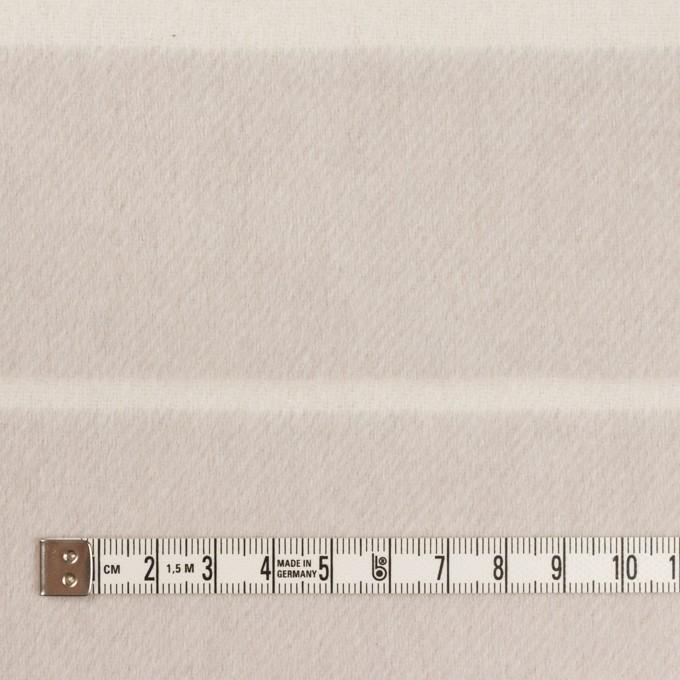 ウール&ポリエステル混×ボーダー(パールグレー)×ビーバー(Wフェイス) イメージ4