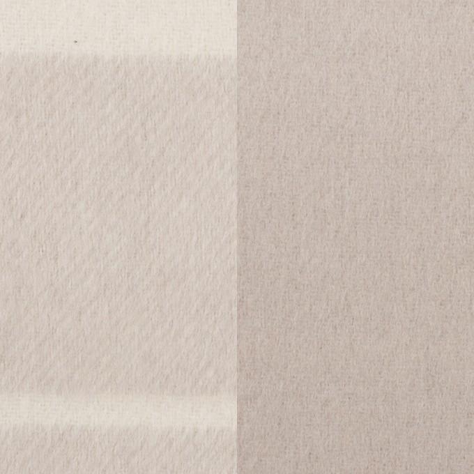 ウール&ポリエステル混×ボーダー(パールグレー)×ビーバー(Wフェイス) イメージ1