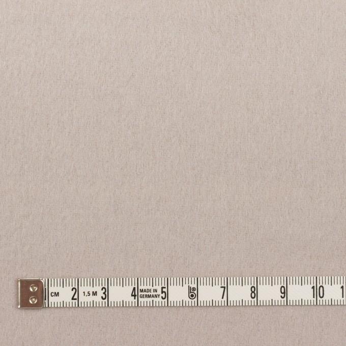ウール&ポリエステル混×ボーダー(パールグレー)×ビーバー(Wフェイス) イメージ6