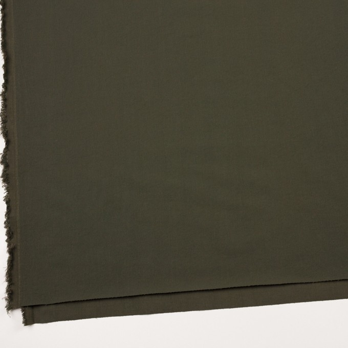 ナイロン&コットン混×無地(カーキグリーン)×サージストレッチ_全5色 イメージ2