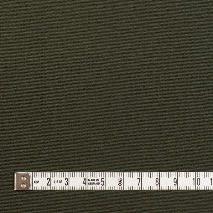 ナイロン&コットン混×無地(カーキグリーン)×サージストレッチ_全5色 イメージ4