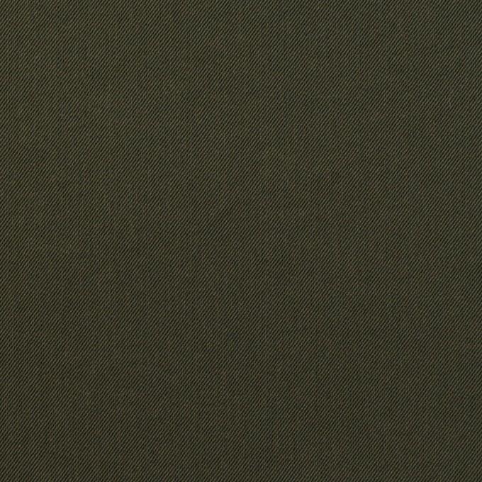 ナイロン&コットン混×無地(カーキグリーン)×サージストレッチ_全5色 イメージ1