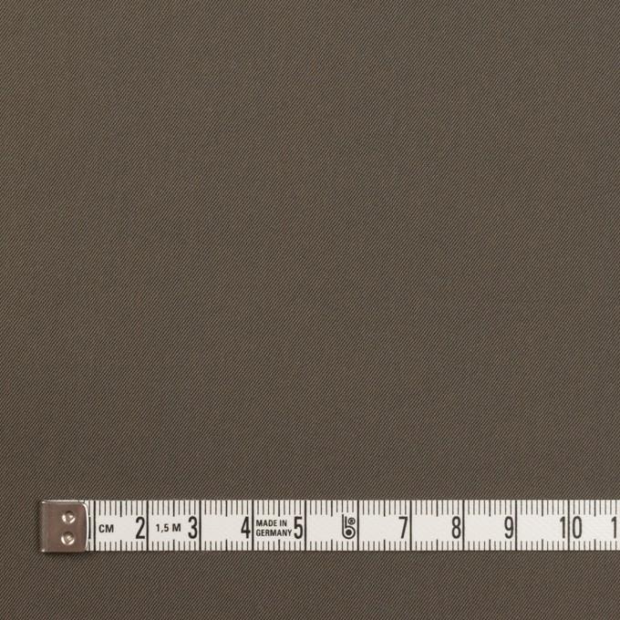 ナイロン&コットン混×無地(ダークカーキ)×サージストレッチ_全5色 イメージ4