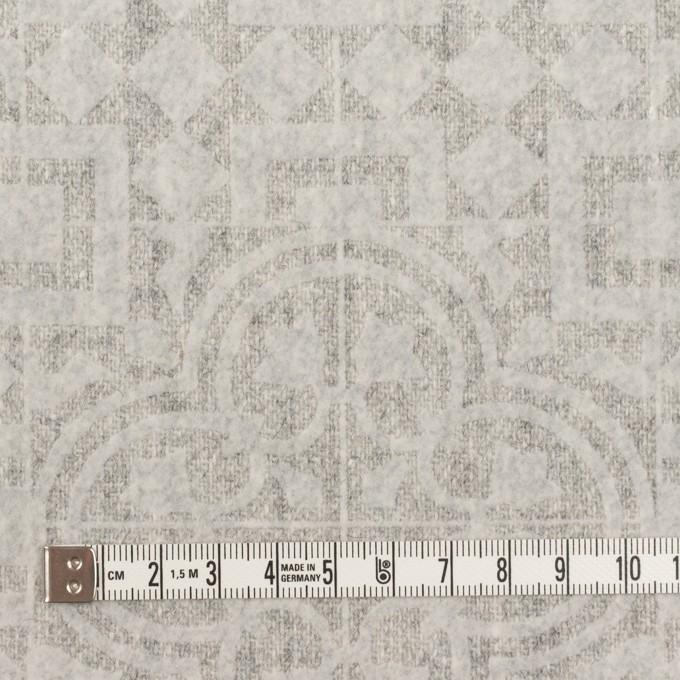 ウール×幾何学模様(ライトグレー)×ツイードフロッキー イメージ4