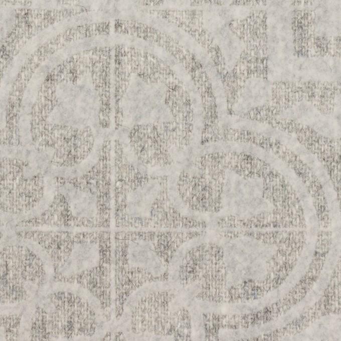 ウール×幾何学模様(ライトグレー)×ツイードフロッキー イメージ1