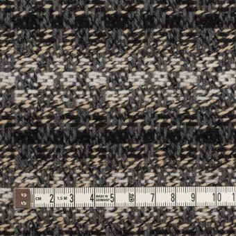 ウール×ボーダー(グレー、エクリュ&ブラック)×ツイードジャガード サムネイル4