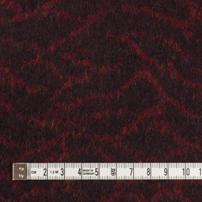 ウール×幾何学模様(アガット&チャコール)×フラノジャガード イメージ4