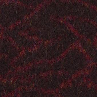 ウール×幾何学模様(アガット&チャコール)×フラノジャガード サムネイル1