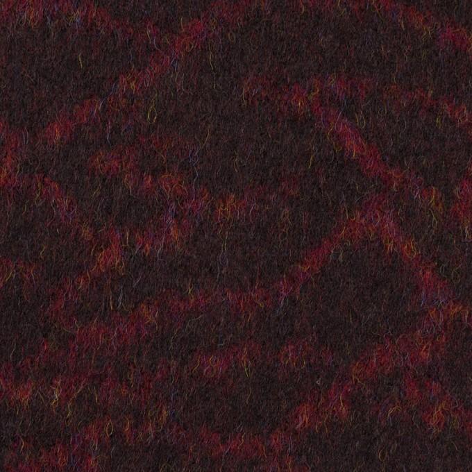 ウール×幾何学模様(アガット&チャコール)×フラノジャガード イメージ1