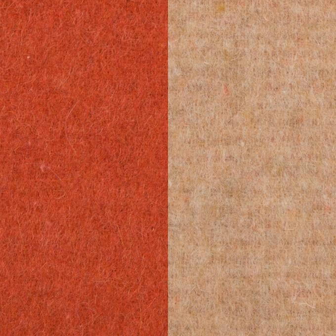 ウール&アクリル混×無地(オレンジ&ベージュ)×Wフェイス・フリース イメージ1
