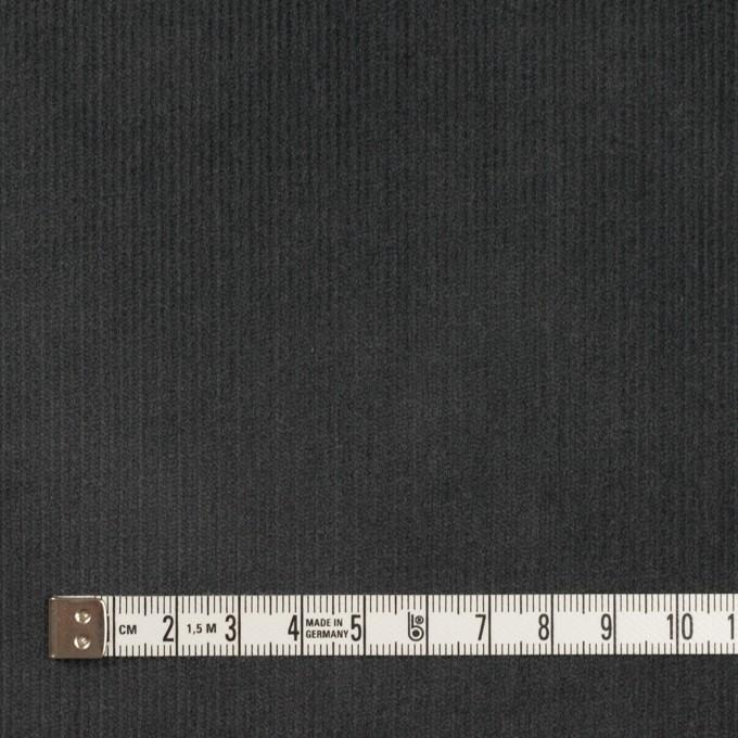 コットン&ポリウレタン×無地(チャコール)×中細コーデュロイ・ストレッチ_全4色 イメージ4
