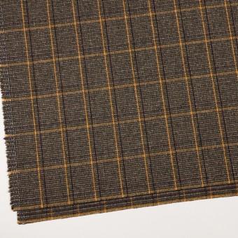 ウール&ポリウレタン×チェック(ブラウン&マスタード)×ツイード・ストレッチ_全2色 サムネイル2