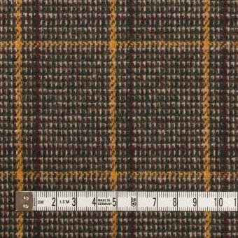 ウール&ポリウレタン×チェック(ブラウン&マスタード)×ツイード・ストレッチ_全2色 サムネイル4