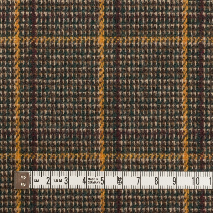 ウール&ポリウレタン×チェック(ブラウン&マスタード)×ツイード・ストレッチ_全2色 イメージ4