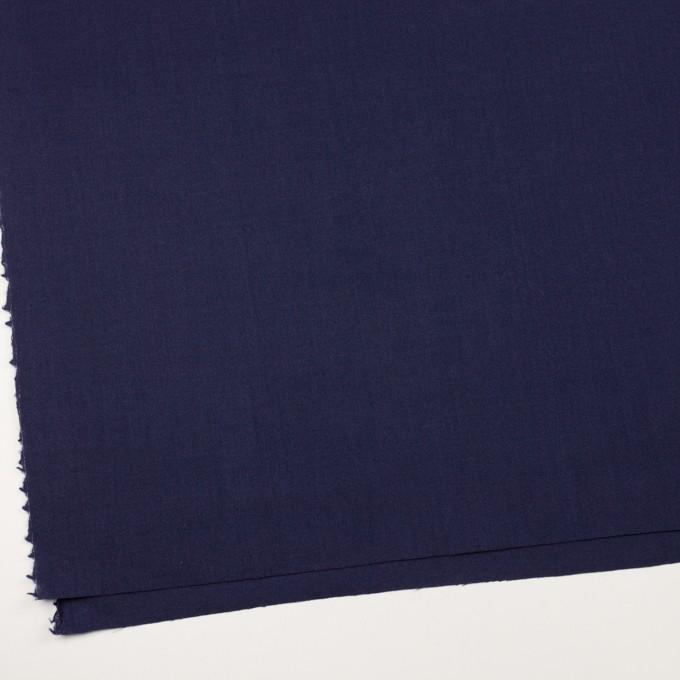 ウール×無地(プルシアンブルー)×ジョーゼット イメージ2