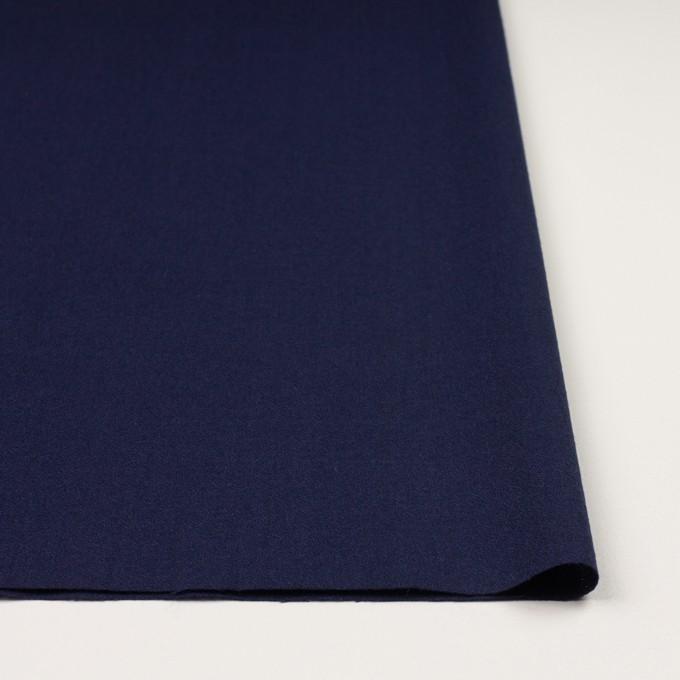 ウール×無地(プルシアンブルー)×ジョーゼット イメージ3