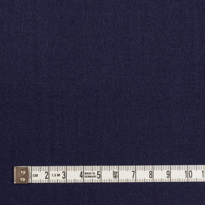 ウール×無地(プルシアンブルー)×ジョーゼット イメージ4