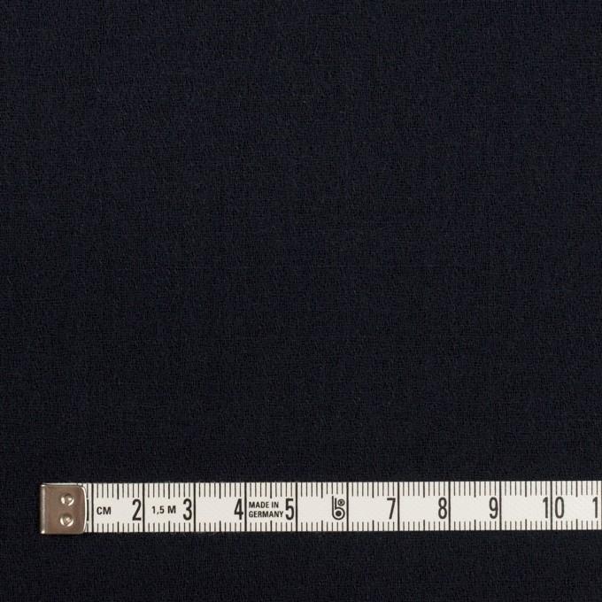 ウール×無地(ダークネイビー)×ジョーゼット イメージ4