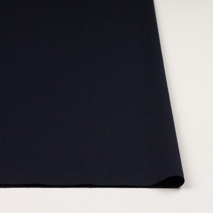ウール×無地(ダークネイビー)×ジョーゼット イメージ3