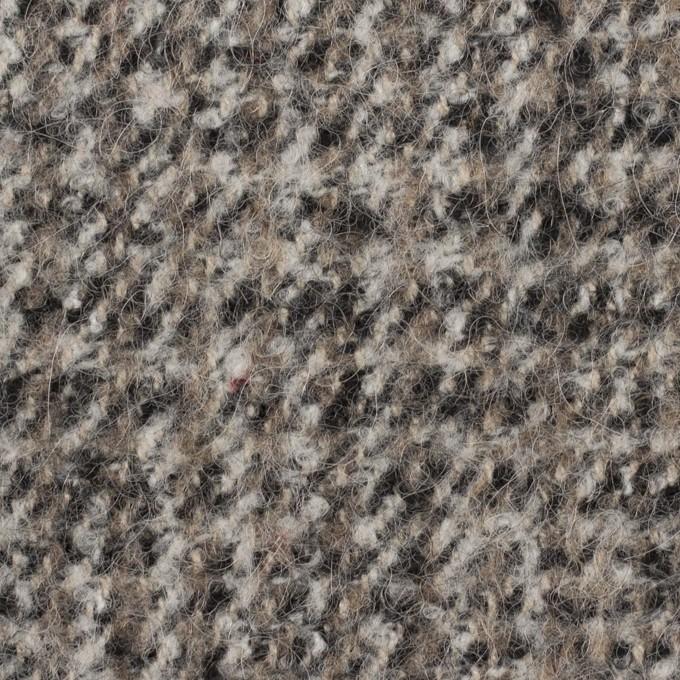アクリル&ポリエステル混×チェック(アッシュグレー)×ファンシーツイード_全3色 イメージ1
