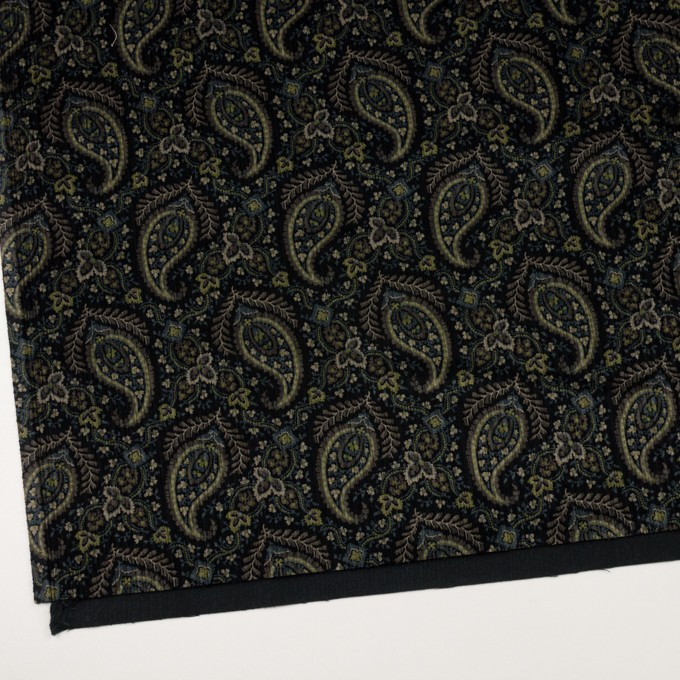 コットン×ペイズリー(ブラック、アボカド&ブルーグレー)×太コーデュロイ イメージ2