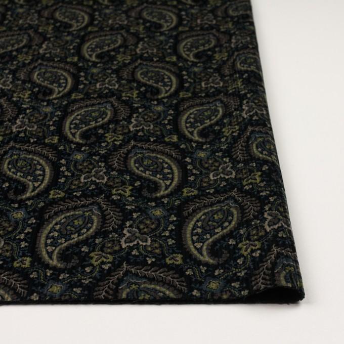 コットン×ペイズリー(ブラック、アボカド&ブルーグレー)×太コーデュロイ イメージ3