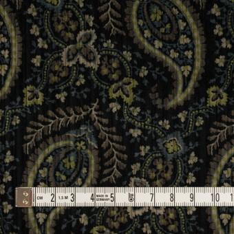 コットン×ペイズリー(ブラック、アボカド&ブルーグレー)×太コーデュロイ サムネイル4