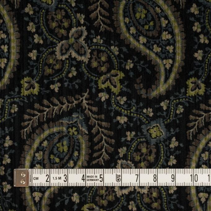 コットン×ペイズリー(ブラック、アボカド&ブルーグレー)×太コーデュロイ イメージ4