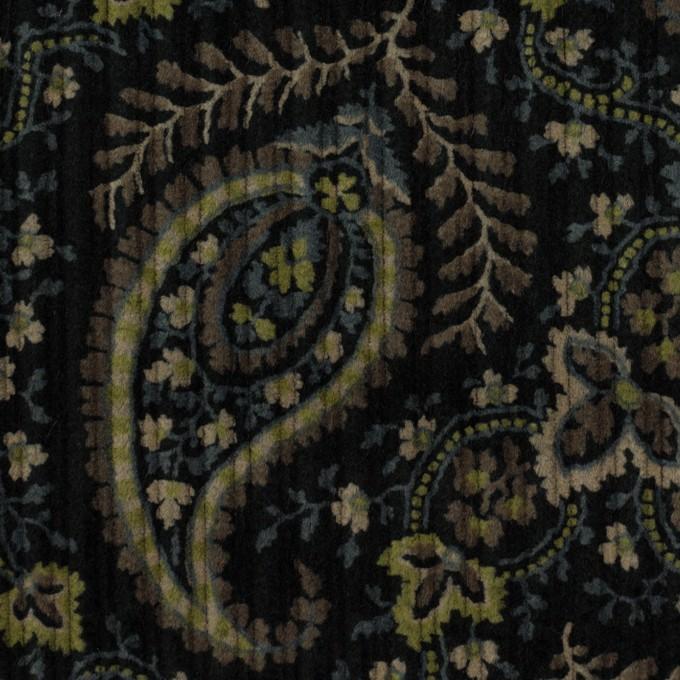 コットン×ペイズリー(ブラック、アボカド&ブルーグレー)×太コーデュロイ イメージ1