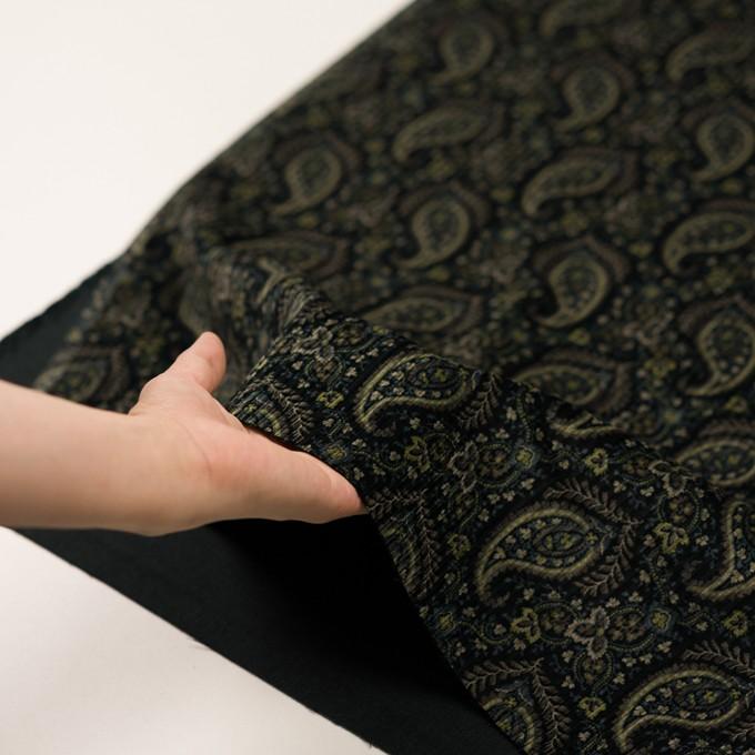 コットン×ペイズリー(ブラック、アボカド&ブルーグレー)×太コーデュロイ イメージ5