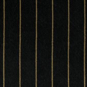 コットン&ポリウレタン×ストライプ(ブラック&ベージュ)×ベッチンストレッチ サムネイル1