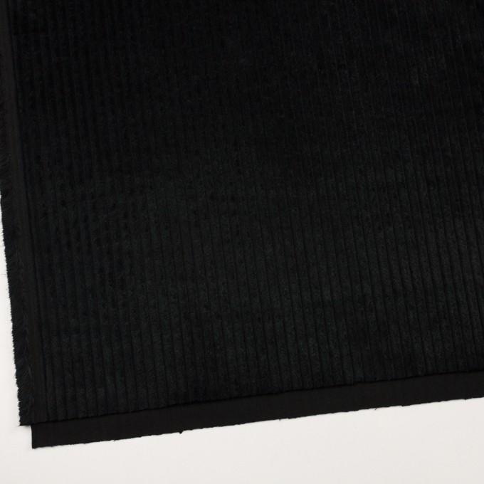 コットン×無地(ブラック)×極太コーデュロイ イメージ2
