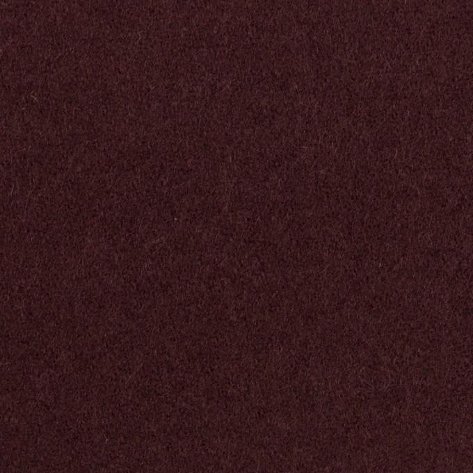 ウール×無地(レーズン)×ソフトメルトン イメージ1