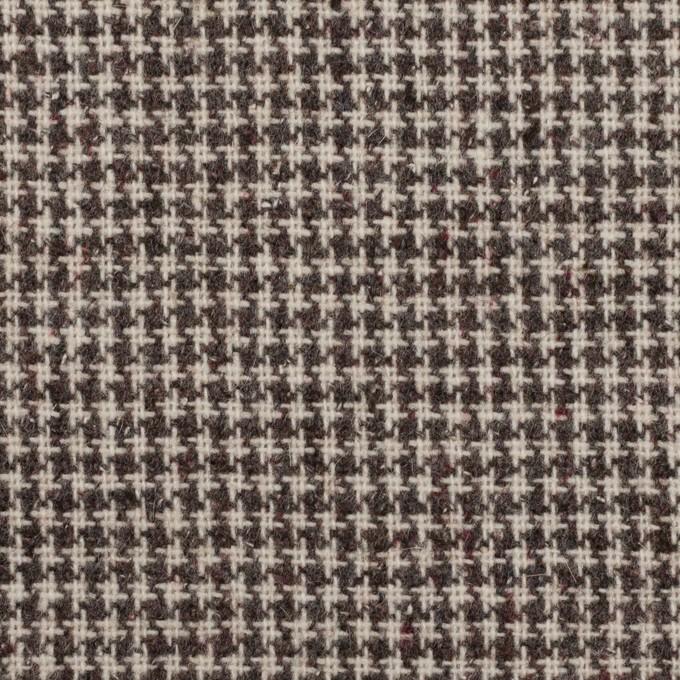 ウール&ポリエステル×チェック(アイボリー)×千鳥格子_全3色 イメージ1