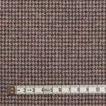 ウール&ポリエステル×チェック(サーモンピンク)×千鳥格子_全3色 サムネイル4